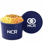 custom labeled popcorn tins